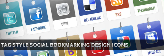 Free Download Tag Style Social Bookmarking Design Icons