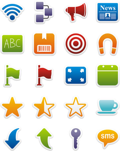Colorful Stickers Icons II