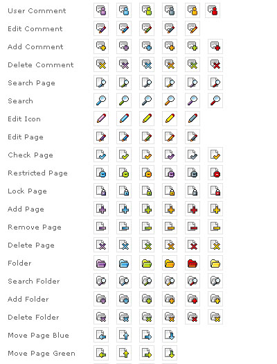 Web Blog and CMS Icons