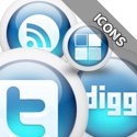Post thumbnail of Download 3D Glossy Blue Color Social Media Bookmarking Icons