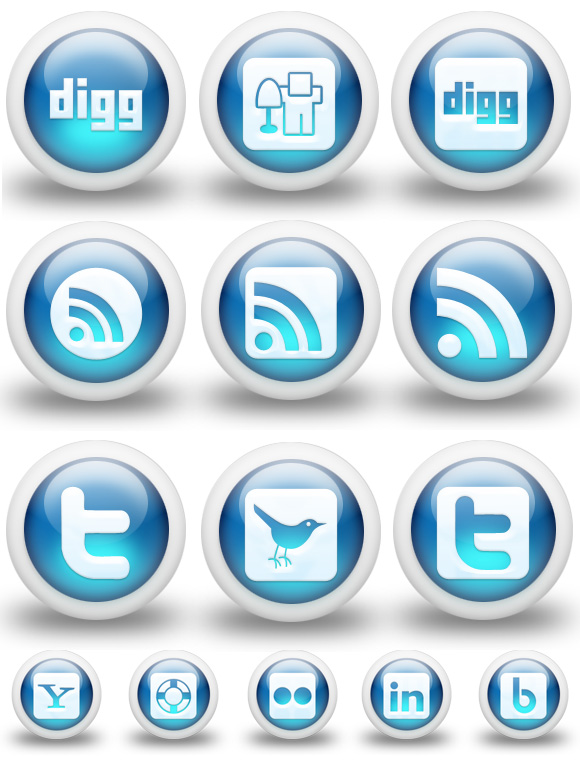 3D Social Icons Preview