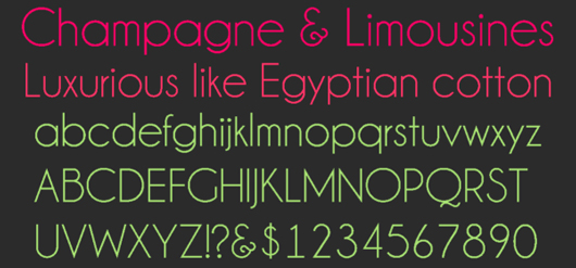 champagne and limousines - 70 Remarkable High Quality Free Fonts for Graphic Designers