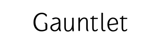 gauntlet - 70 Remarkable High Quality Free Fonts for Graphic Designers