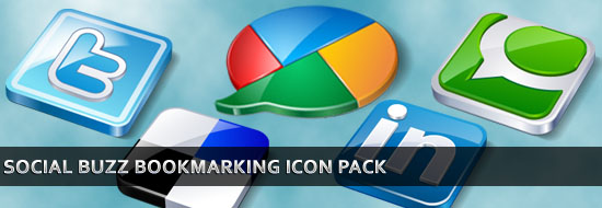 Download Social Buzz Bookmarking Icon Pack