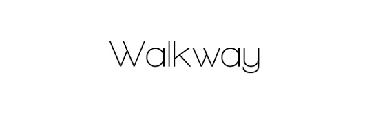 walkway - 70 Remarkable High Quality Free Fonts for Graphic Designers