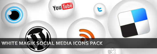 WHITE MAGIK Social Media Icons Pack – Free Download