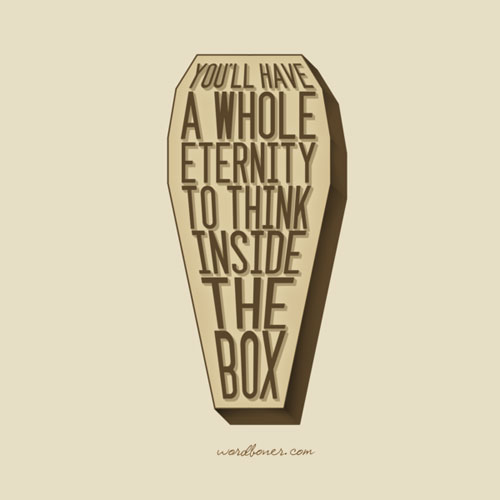 Box Ready For Print Typography Poster
