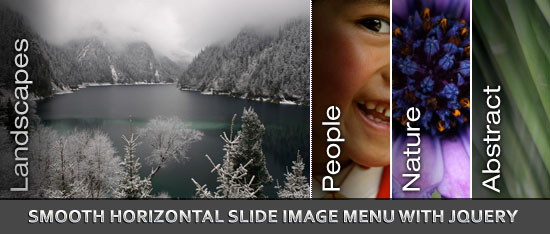 Smooth Horizontal Slide Image Menu with Jquery