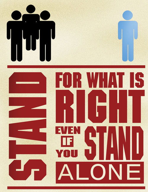 Stand For What's Right Ready For Print Typography Poster
