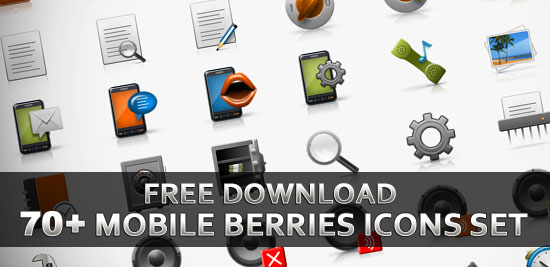 Download Free 70+ Mobile Berries Icons Set