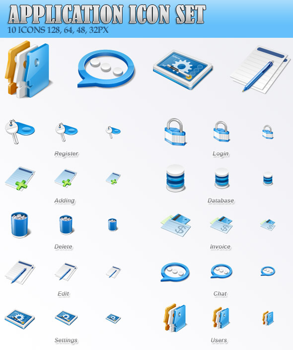 Application Icons Set Free Download