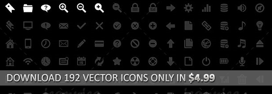 Download 192 Vector Icons Only in $4.99
