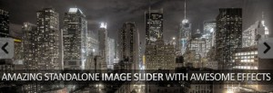 Standalone Image slider gallery with effects