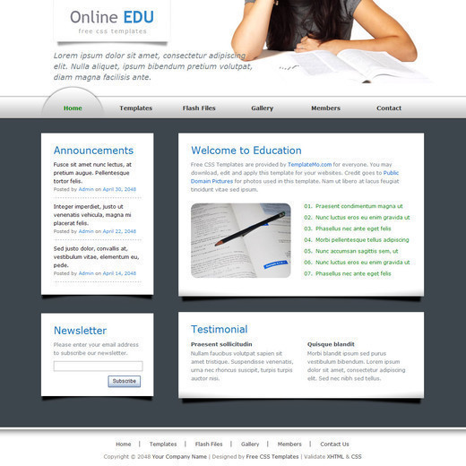Csstemplates27 in 70+ Free XHTML/CSS Templates - Download Now