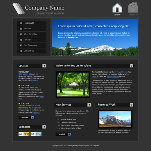 Csstemplates28 in 70+ Free XHTML/CSS Templates - Download Now
