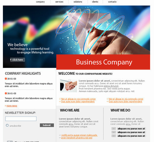 Csstemplates32 in 70+ Free XHTML/CSS Templates - Download Now