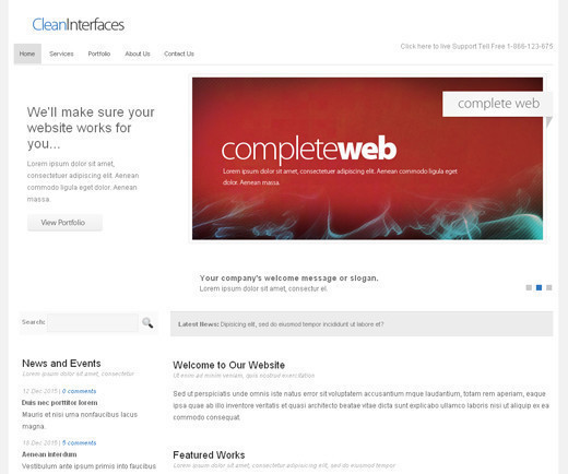 Csstemplates46 in 70+ Free XHTML/CSS Templates - Download Now