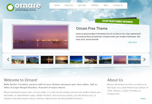 Csstemplates5 in 70+ Free XHTML/CSS Templates - Download Now