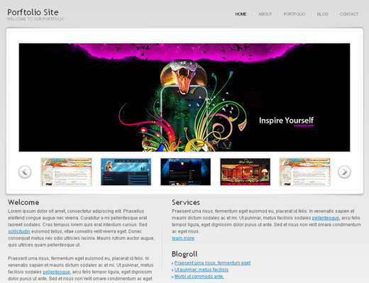 Csstemplates56 in 70+ Free XHTML/CSS Templates - Download Now