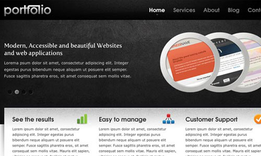 Csstemplates57 in 70+ Free XHTML/CSS Templates - Download Now