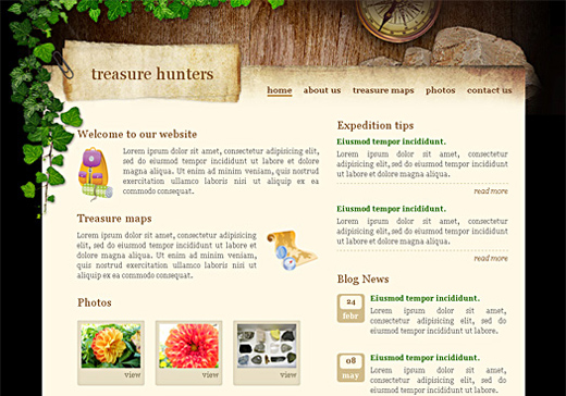 Csstemplates66 in 70+ Free XHTML/CSS Templates - Download Now