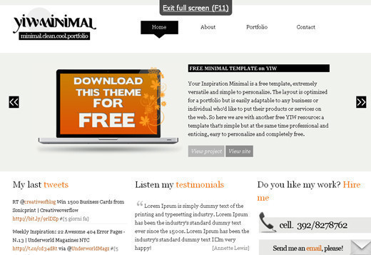 Csstemplates9 in 70+ Free XHTML/CSS Templates - Download Now