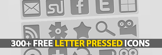 300+ Free Letter Pressed Icons