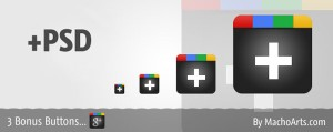 Google Plus One Icons and Google Plus One PSD