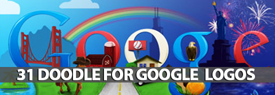 Doodle For Google: 31 Logos
