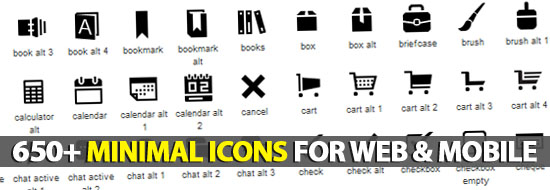 650+ Minimal Icons For Web & Mobile Devices