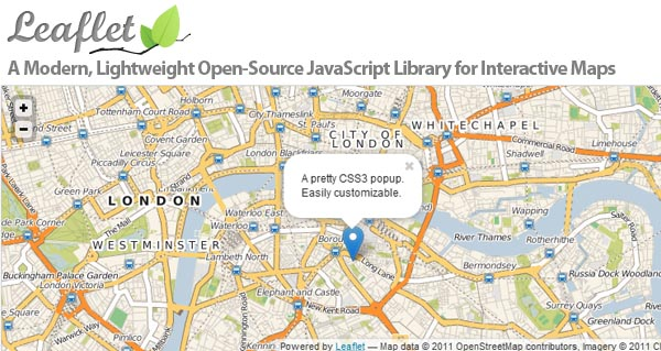 Leaflet: Lightweight OpenSoruce JavaScript Library For Interactive Maps