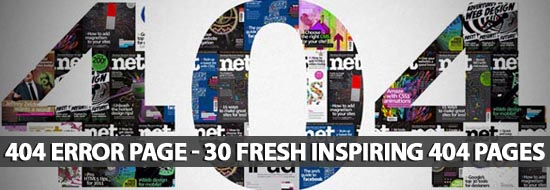 404 Error Page – 30 Fresh Inspiring 404 Pages