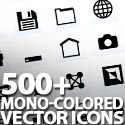 Post thumbnail of 500+ Mono-Colored Vector Icons