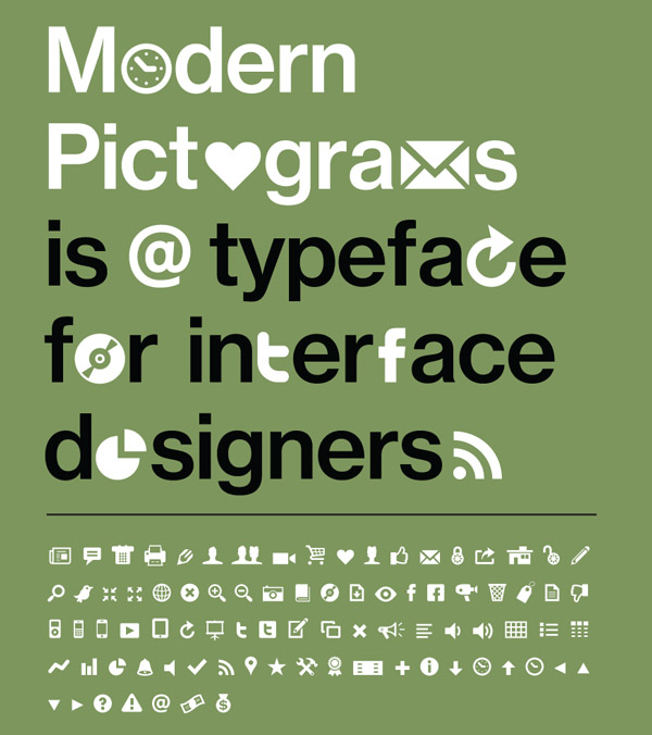 Modern Pictograms Typeface