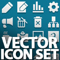 Post thumbnail of Vector Icon Set – (60 Icons)