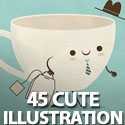 Post Thumbnail of 45 Cute Illustrations By Skinny Andy