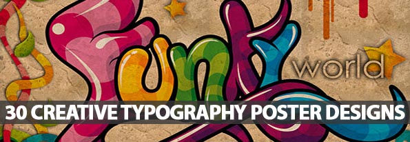 Typography Posters: 30 Creative Poster Designs - Best Post Of 2012