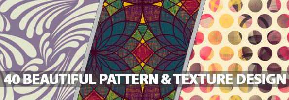 40 Beautiful Pattern and Texture Design