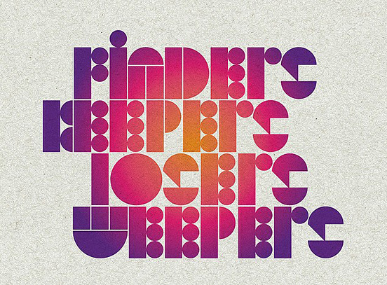Typography Posters: 30 Creative Poster Designs