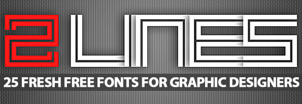 Free Fonts: 25 Fresh Fonts For Graphic Designers