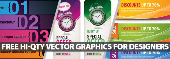 30 Free Hi-Qty Vector Graphics For Designers
