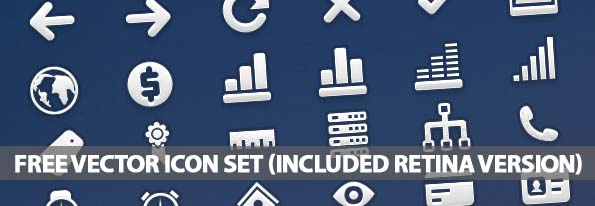 High Quality Free Vector Icon Set (100+ Icons – included Retina Version)