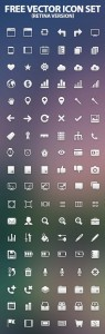 Free vector icon set retina version