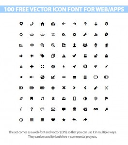 free vector icon font for web and apps