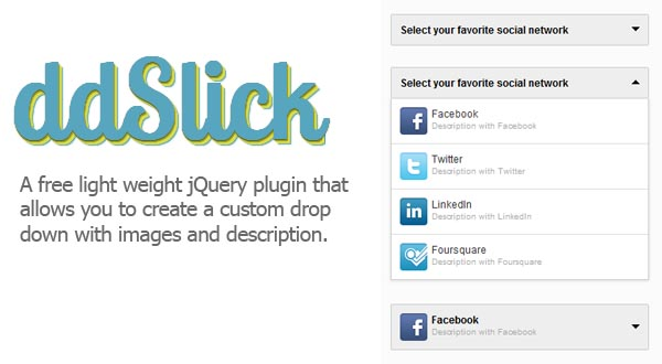 Drop Down Menus With Images jQuery Plugin :ddSlick