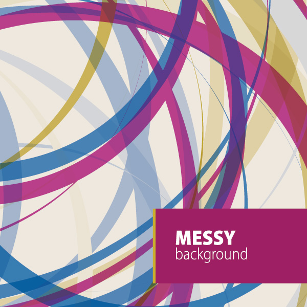 Messy Background Vector Graphic