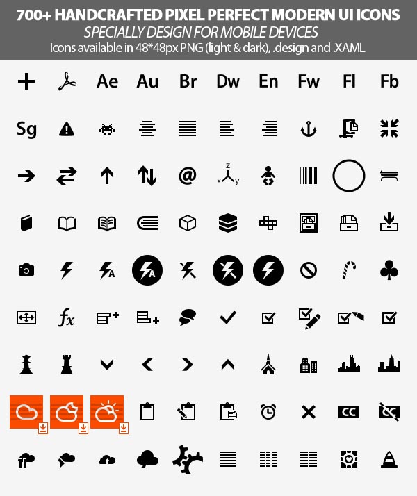 handcrafted pixel perfect modern ui icons