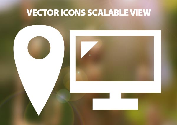 vector icons scalable view