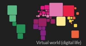 virtual world digital map