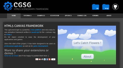 cgSceneGraph Animation Framework With HTML5 Canvas